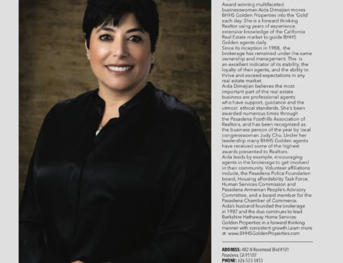 Golden Properties in Pasadena Magazine